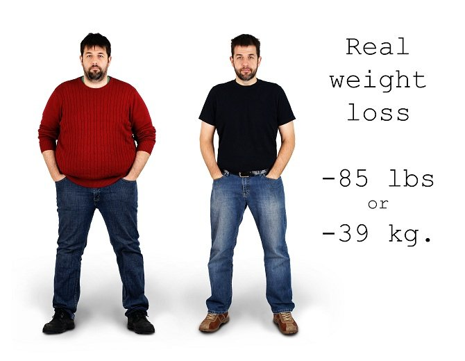 male before and after weight loss