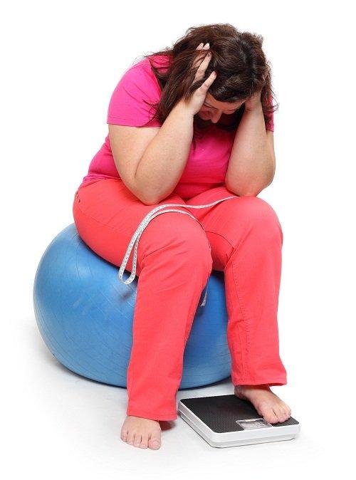 woman upset sitting on yoga ball