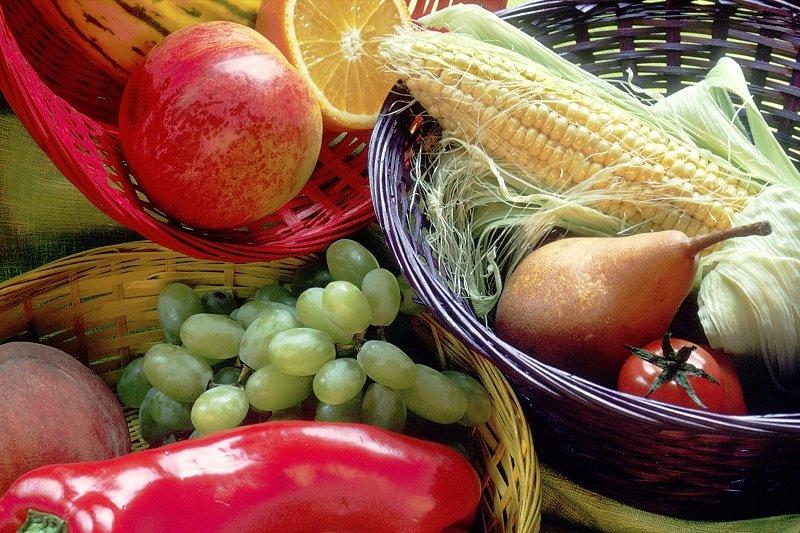basket of fresh fruits and veggies
