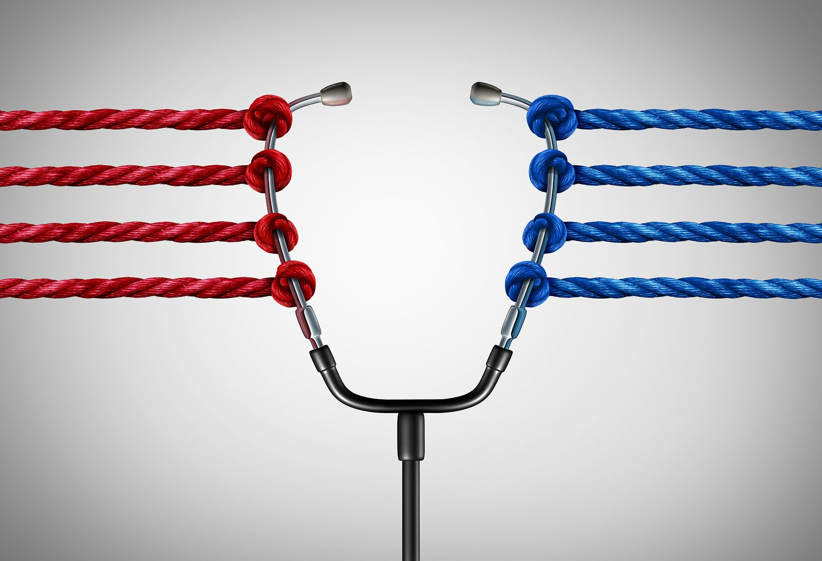 blue and red rope pulling stethoscope