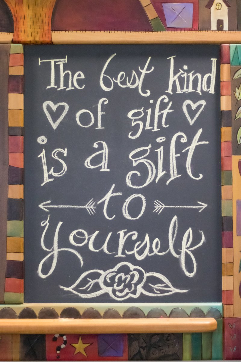 The best kind of gift is a gift to yourself
